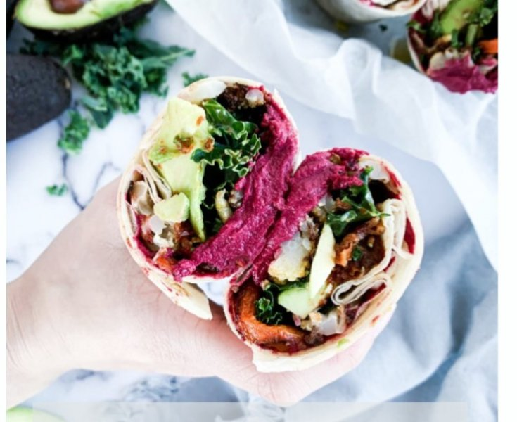 Healthy Root Veggie Wrap